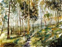 Waldweg, Pfad, Wald, Sonne