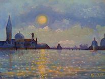 Wasser, Morgen, Venedig, Sonnenaufgang