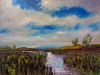 Gewässer, Landschaft, Himmel, Wolken