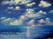 Himmel, Meer, Schiff, Wolken