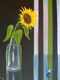 Sonne, Globus, Sonnenblumen, Glasmurmel