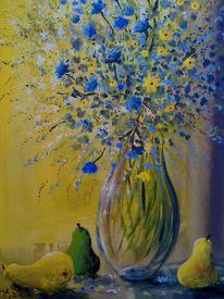 Blumen, Vase, Stillleben, Glas