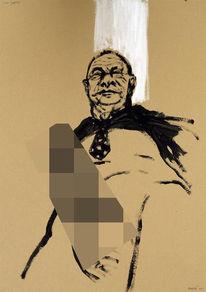 Moderne kunst, Erotische bilder, Baselitz, Portrait