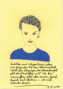 Malerei, Gesicht, Aristoteles, Frau