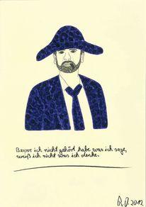 Hut, Zigarre, Acrylmalerei, Philosophie