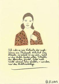 Nihilismus, Malerei, Menschen, Frau
