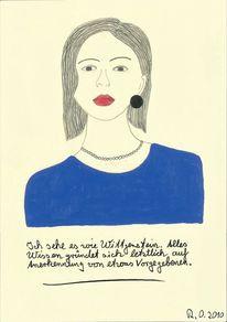 Blau, Gesicht, Acrylmalerei, Wittgenstein