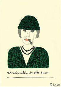 Menschen, Grün, Rauchen, Gesicht