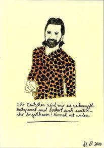 Lockern, Frech, Leopardenhemd, Getränk