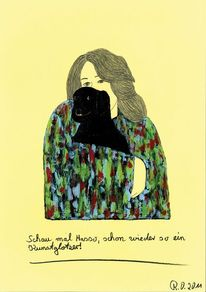 Schwarz, Drohend, Dadaismus, Frau