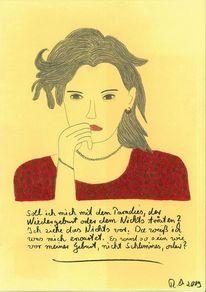 Denken, Gesicht, Wiedergeburt, Malerei