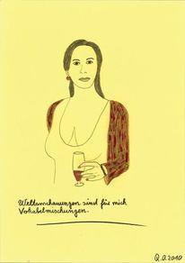 Dadaismus, Blick, Frau, Kritisch