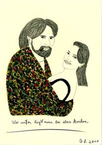Liebe, Malerei, Gesicht, Menschen
