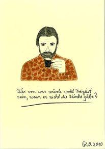 Nietzsche, Gesicht, Glaube, Freigeist