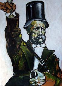 Malerei, Moderne kunst, Portrait, Friedrich nietzsche