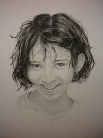 Gesicht, Lächeln, Zeichnungen, Portrait