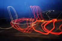 Fotografie, Langzeitbelichtung, Autobahn, Malerei