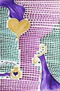 Jayc, Aquarellmalerei, Gemälde, Liebe