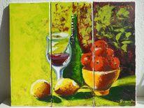 Orange, Ein glas, Gelb, Küche