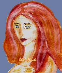 Portrait, Frau, Mona lisa, Akt
