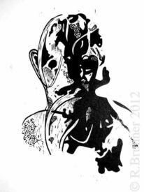 Linoleagrafia, Schwarz weiß, Linogravure, Linoldruck