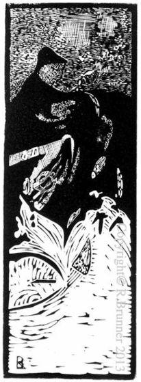 Grafik, Lino gravure, Druckgrafik, Linol
