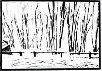 Stille, Schnee, Baum, Winterlandschaft