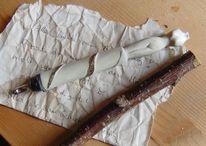 Holz, Feder, Akt, Tinte