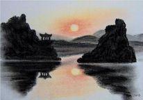 Sonne, Asien, Tempel, Reflexion