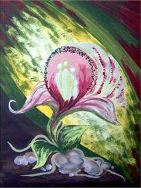 Urwald, Familie, Licht, Orchidee