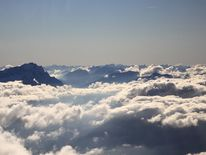 Fliegen, Wolken, Zugspitze, Alpen