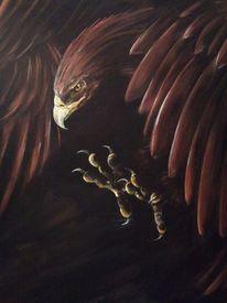 Acrylmalerei, Adler, Gemälde, Malerei