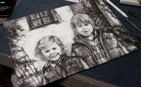 Junge, Mädel, Portrait, Kind
