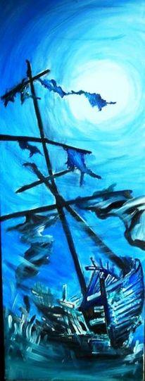 Wasserpflanzen, Acrylmalerei, Meer, Gemälde