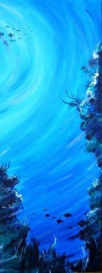 Riff, Gemälde, Meer, Blau