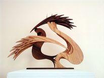 Skulptur, Krieg, Hahn, Abstrakt