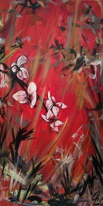 Acrylmalerei, Gemälde, Orchidee, Malerei