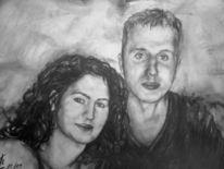 Frau, Mann, Portrait, Paar