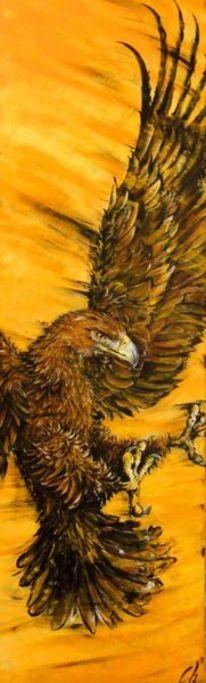 Landung, Acrylmalerei, Malen, Gemälde