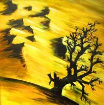 Äste, Gemälde, Sand, Sturm