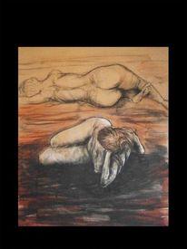 Akt, Menschen, Zeichnung, Malerei