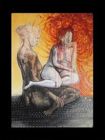 Tuschmalerei, Zeichnung, Tod, Traum
