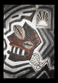 Kohlezeichnung, Tod, Menschen, Traum