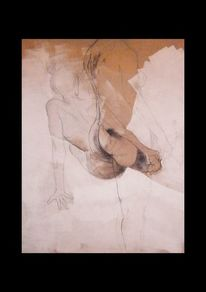 Akt, Bleistiftzeichnung, Menschen, Knäuel