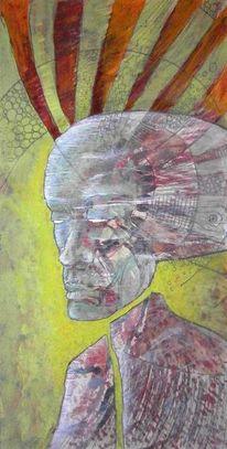 Collage, Abstrakt, Portrait, Menschen