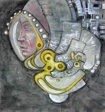 Traum, Schlaf, Gesicht, Malerei