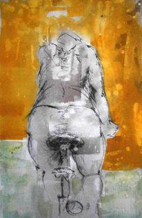 Bewegung, Tuschmalerei, Zeichnung, Kohlezeichnung