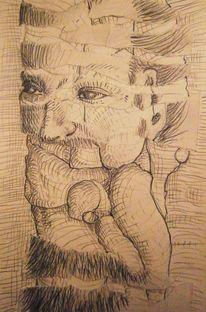 Zeichnung, Traum, Skizze, Zerreißen