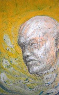 Menschen, Acrylmalerei, Portrait, Zeichnung