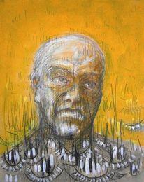 Portrait, Zeichnung, Acrylmalerei, Menschen